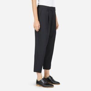 NEW EVERLANE Italian Wool Slouchy Cropped Pants 00
